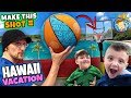 BASKETBALL SHOT = HAWAII VACATION 😱 OMG! (FV Family Challenge)