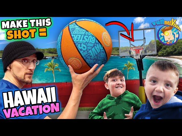 BASKETBALL SHOT = HAWAII VACATION 😱 OMG! (FV Family Challenge)