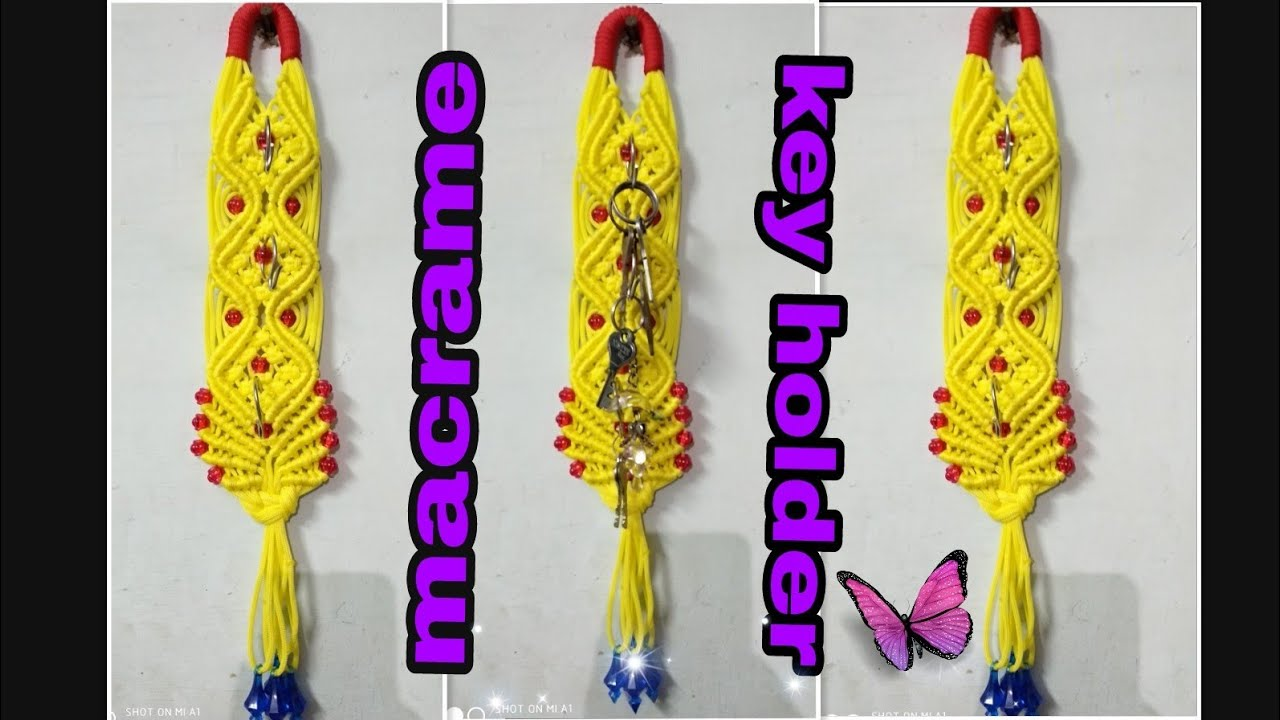How to make macrame key holder unique and different design diy ...