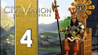 Ollantaytambo - Let's Play Civilization V Gameplay (Deity Gameplay) - Incas - Part 4