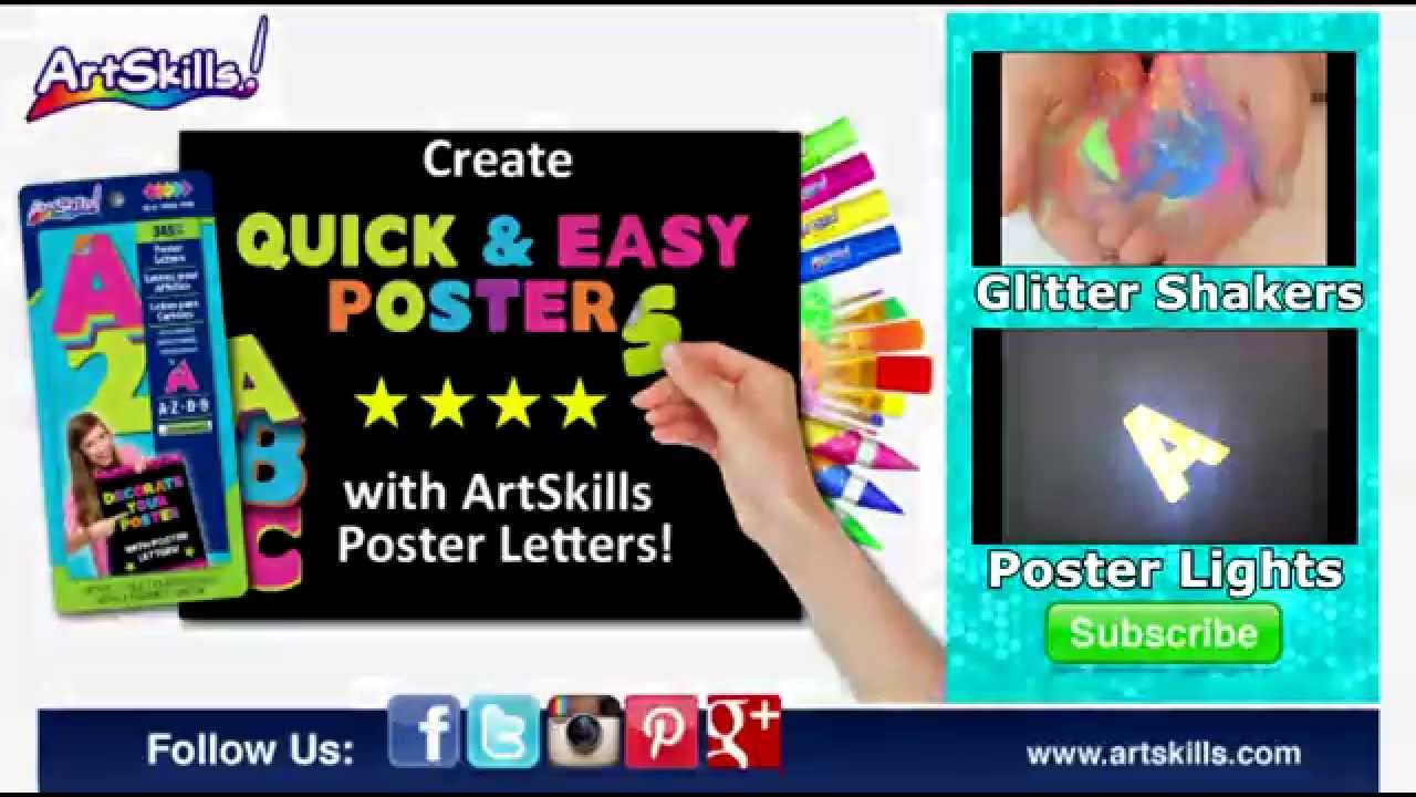 poster letters artskills poster supplies youtube