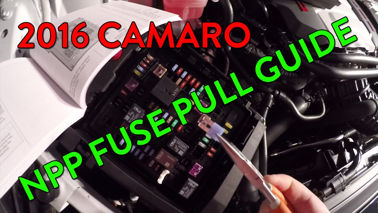 Guide Camaro Ss Amp Lt Dual Mode Exhaust Npp Fuse Pull