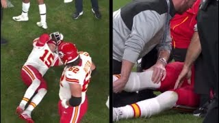 Patrick Mahomes KNEE INJURY, Trainer Pops Knee! (WARNING)