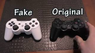 "COMPARISON: PS3 Controller - Fake Ebay ""Hong Kong"" Version vs Sony"