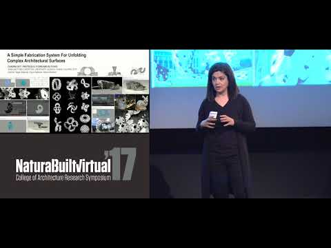 Negar Kalantar - 'A Simple Fabrication System for Unfolding Complex Architectural Surfaces