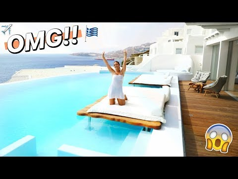 CRAZY HOTEL MANSION TOUR IN GREECE!! (3 bedroom, private pool)