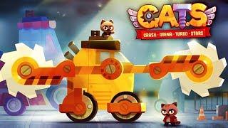 БИТВА КОТЯТ на САМОДЕЛЬНЫХ БОЕВЫХ МАШИНАХ Мультяшная игра НОВЫЕ ТАЧКИ CATS: Crash Arena Turbo Stars