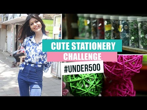 Stationery Challenge #Under500 | Ep04 | Pinkvilla | Fashion | Stationery Shopping