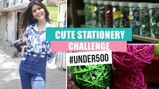 Stationery Challenge #Under500 Ep04 | Pinkvilla | Fashion | Stationery Shopping
