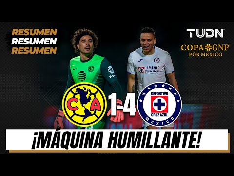 Resumen y goles | América 1-4 Cruz Azul | Copa GNP por México | TUDN