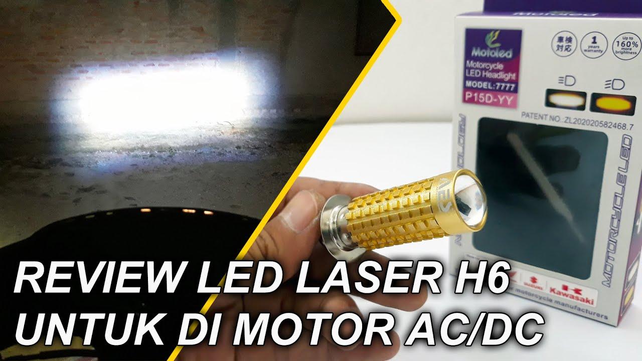 Review lampu H6 LED Laser Supersonic cocok untuk matic dan bebek terang dan fokus