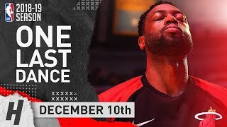 Dwyane Wade Full Highlights Heat vs Lakers 2018.12.10 - 15 Pts, 10 Ast, LAST Game in LA
