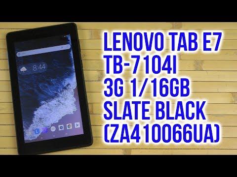 Распаковка Lenovo Tab E7 TB-7104i 3G 1/16GB Slate Black Za410066ua