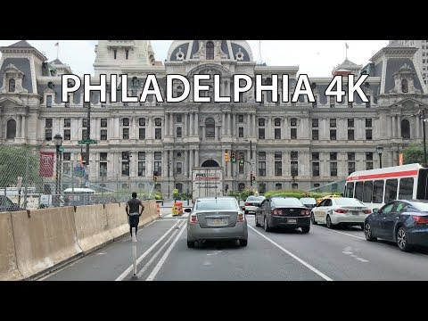 Philadelphia 4K - America's Founding Street - Driving Downtown USA