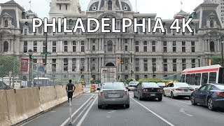 Drive 4K - The Most Historic Street in the US - Philadelphia USA
