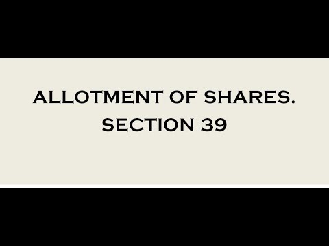 Companies Act 2013 | ALLOTMENT OF SHARES SECTION 39 |
