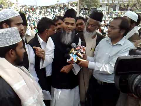 Maulana Aamir Rashadi sb talk to Media in Lucknow
