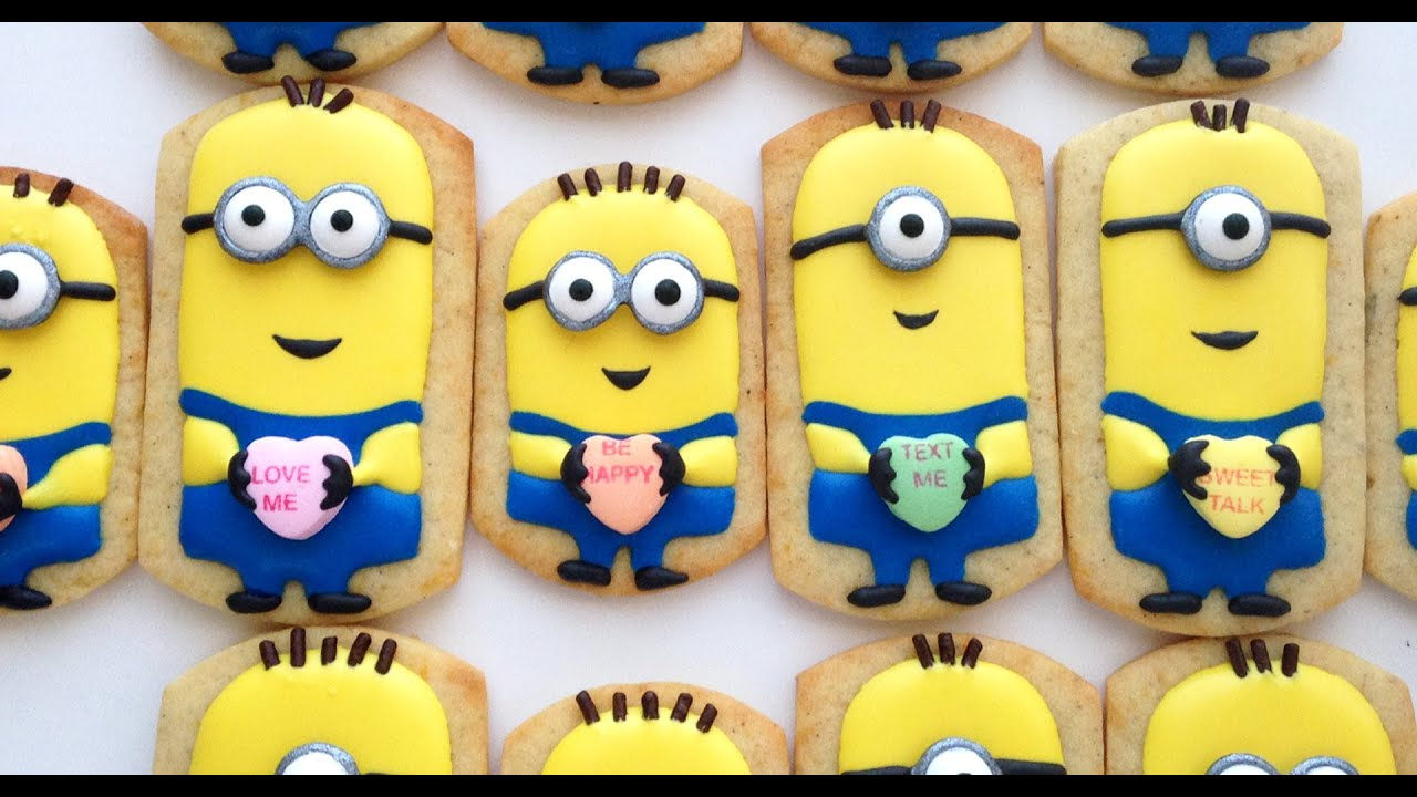 How To Decorate Minion Cookies For Valentineu0027s Day!   YouTube