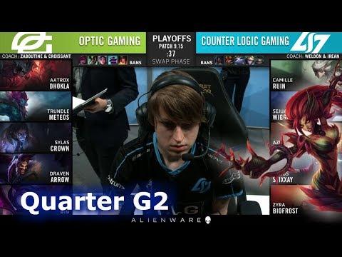 CLG vs OPT - Game 2 | Quarter Finals S9 LCS Summer 2019 | CLG vs OpTic Gaming G2