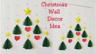 Diy Christmas Wall Decor Ideas How To Make 3d Star Christmas Tree Wall Hanging Diy Wall Hanging Youtube