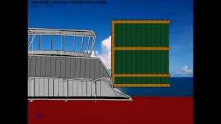 Ship Wheelhouse Collision - Deformable Semi-submersible