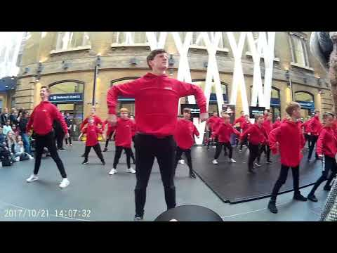 RAD Project B - 50 Boys from around UK Dance at Kings Cross