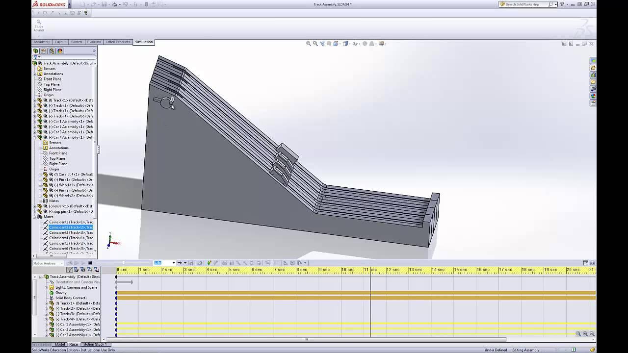 Define motion study - Solidworks Motion Study Using Gravity