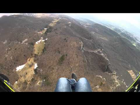 PARAGLIDING FLY FROM DAJTI BEFORE THE RAIN, 26.02.2013.MP4