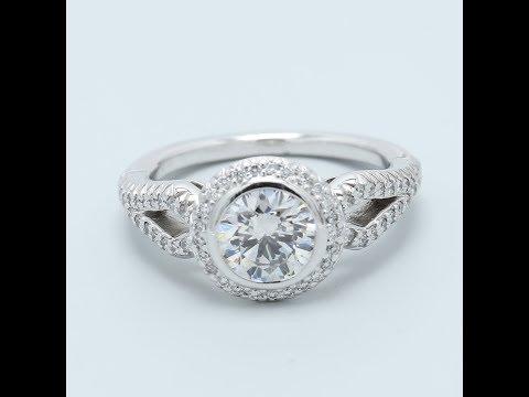 1 Carat Bezel Set Diamond Engagement Ring