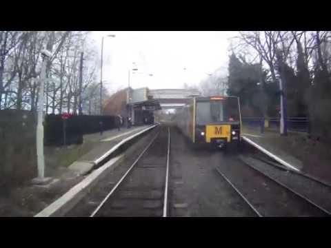 Tyne & Wear Metro Ride From Jesmond to Whitley Bay, Newcastle-Upon-Tyne, England - 17/02/15