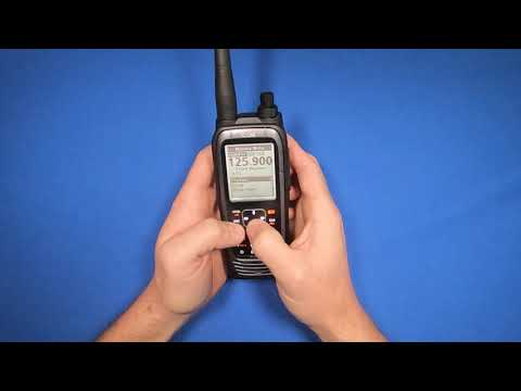 How To Save And Recall Frequencies In The Icom A25
