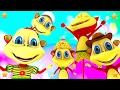 Five Little Monkeys | 3d Kindergarten Nursery Rhyme Song | Baby Songs By Little Treehouse video