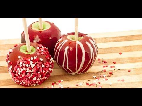 рецепт приготовления яблока в карамели на английском языке