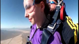 Kayla Skydiving in Las Vegas
