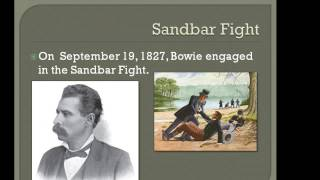 US History Report On Jim Bowie