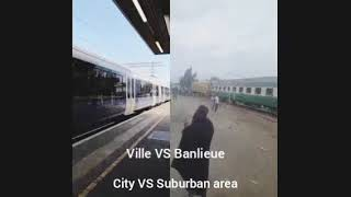 No comment  Villes VS Banlieues Cities VS Suburban area