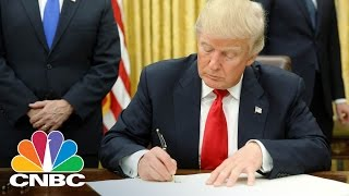 President Trump Signs Executive Orders Withdrawing From TPP, Freezing Government Hiring | CNBC
