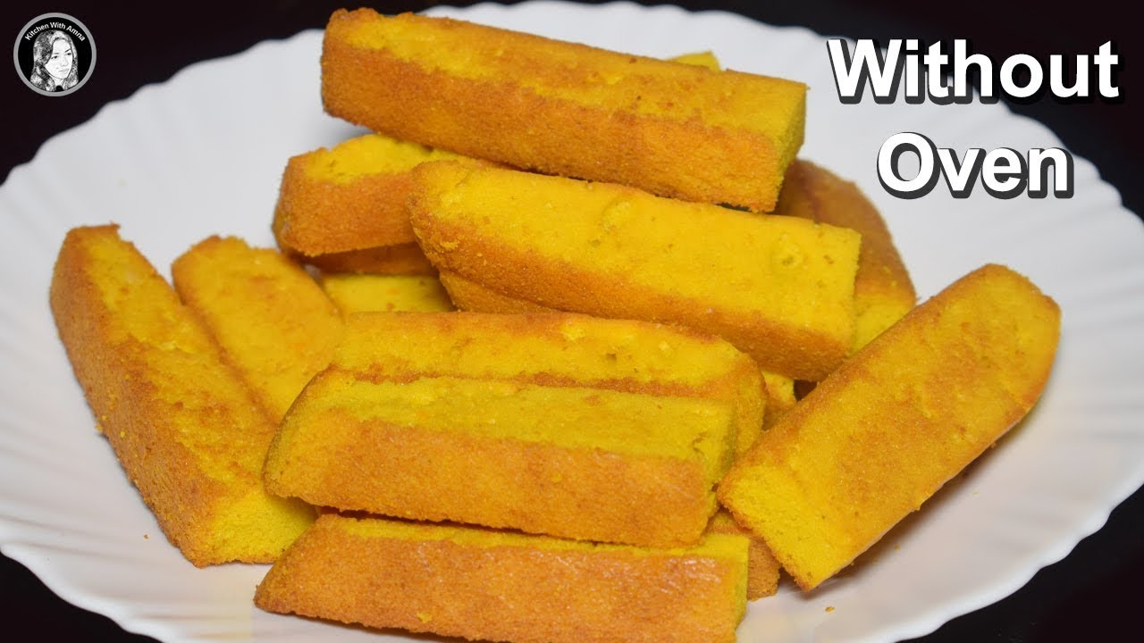 Cake Rusk Recipe Without Oven How To Make Kitchen With Amna