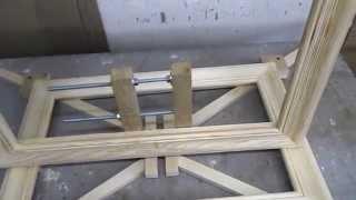 Простой метод изготовления рамки для картины. ( Струбцина для сборки).(Показан метод изготовления рамок для картин, своими руками, с помощью самодельной, деревянной струбцины...., 2015-11-15T10:02:13.000Z)