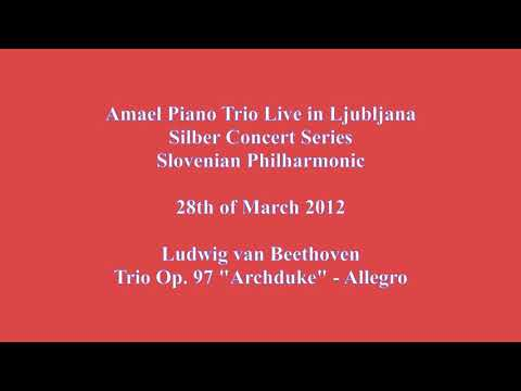 Ludwig van Beethoven: Trio Op. 97 Archduke-Allegro (Amael Piano Trio Live from Ljubljana)