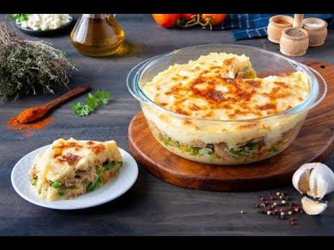 طاجن البطاطس البيورية بالدجاج والخضار بطريقة مختلفه وجديدة مع الشطورة سالى سليمان - ELWASFA