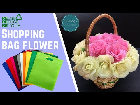 Reduce, Reuse, Recycle - Shopping Bag Flower | MyInDulzens