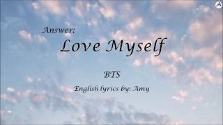 Answer: Love Myself - English KARAOKE (piano inst.) - BTS