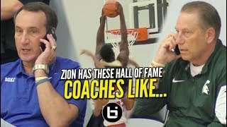 Zion Williamson Drops Jaws on Day 2 of Adidas Finale: Coach K & Tom Izzo Highlight Front Row