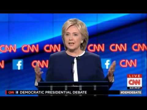 Hillary Clinton on Changing Her Views at First Democratic Presidential Debate
