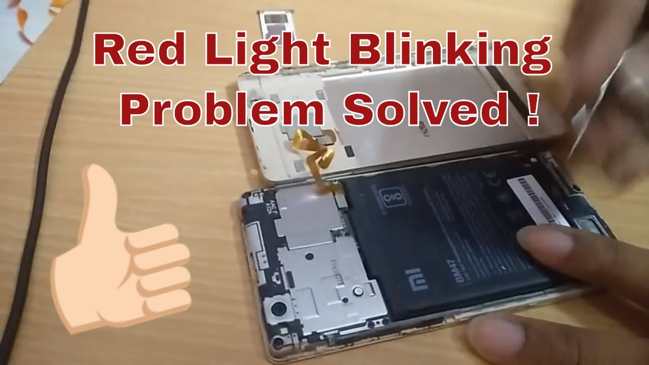 How to fix dead battery in Redmi phones | Red Light Blinking while charging