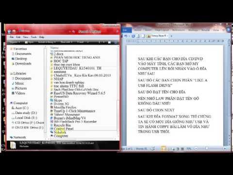 Hướng dẫn chép file báo cáo vào đĩa CD/DVD đơn giản