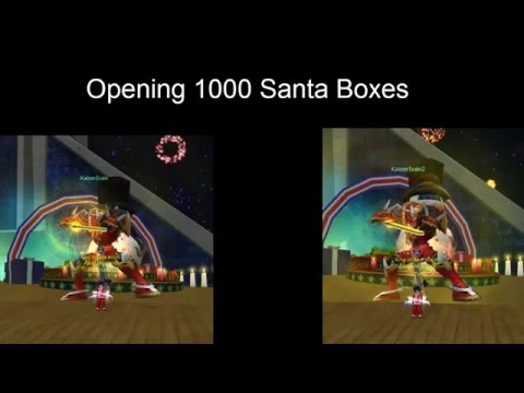 Opening 50 of santas gift boxes digimon masters online 1000 santa gift boxes negle Images