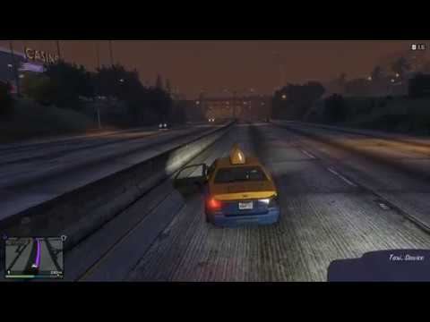 GTA V - Taxi Ride from Top to Bottom of Map and Vice-Versa