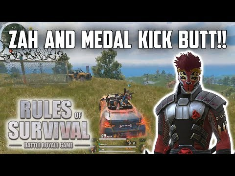 ZAH AND MEDAL KICK BUTT! - Rules of Survival: Battle Royale